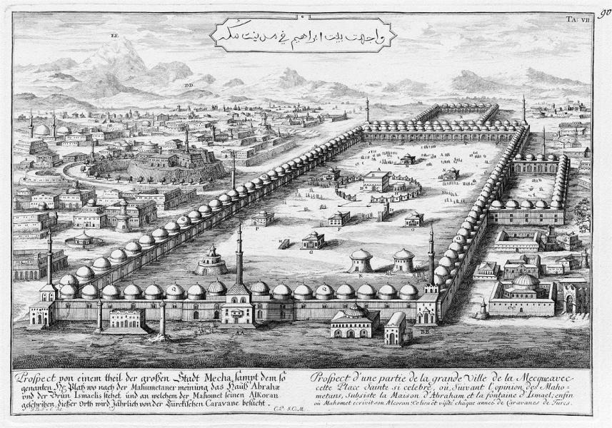 Sens Mekkas pilsētas zīmējums