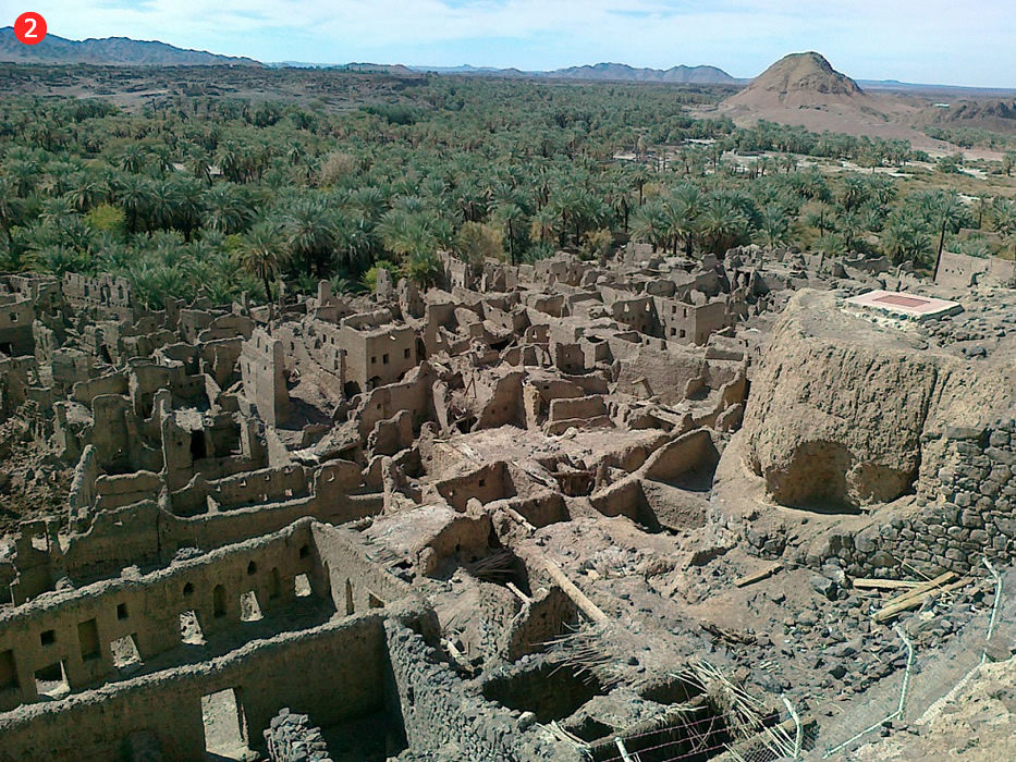 Pamesta Haibara oāze, kurā Pravieša (s) laikā dzīvoja liels skaits jūdu. Mūsu ēras 1. gs., Romas Impērijas represiju rezultātā, jūdi pārcēlās uz Arābijas pussalas ziemeļrietumu oāzēm