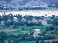 Nadžranas pilsētas bagātīgie lauki un palmu fermas. Vietējie iedzīvotāji savas mājas veido tradicionālajā stilā