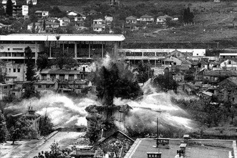 Mostera bombardēšanas laikā, Bosnija, 1992. g.