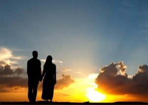 muslim-couple-and-sunset