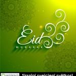 eid-mubarak-creative-text-in-green-background-vector-14300528